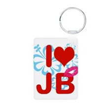 I love Jimmy! Aluminum Photo Keychain