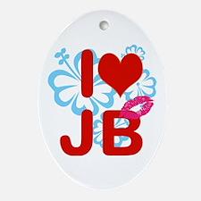 I love Jimmy! Ornament (Oval)