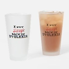 Dyslexia Drinking Glass