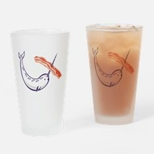 narwhal whale bacon Drinking Glass
