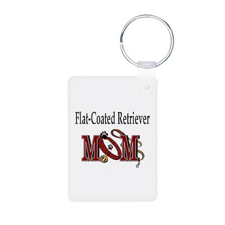 Flat-Coated Retriever Aluminum Photo Keychain