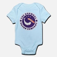 narwhal whale bacon Infant Bodysuit