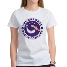 narwhal whale bacon Tee