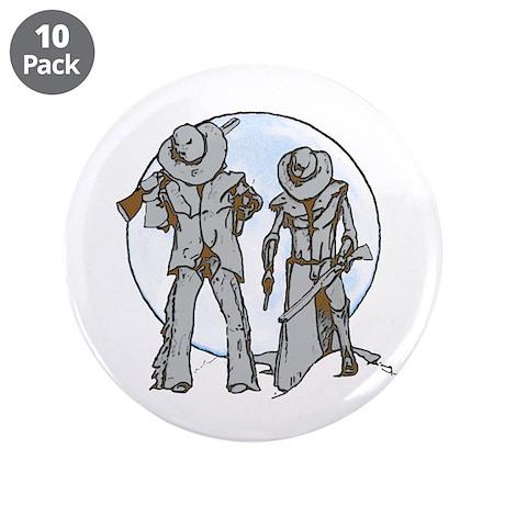 "Cowboy moon 3.5"" Button (10 pack)"