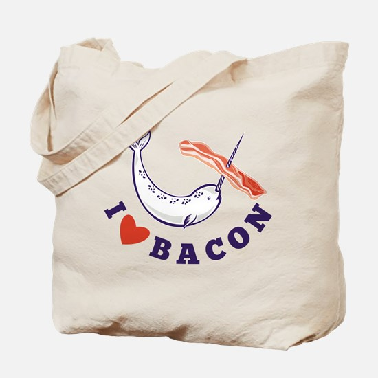 narwhal whale bacon Tote Bag