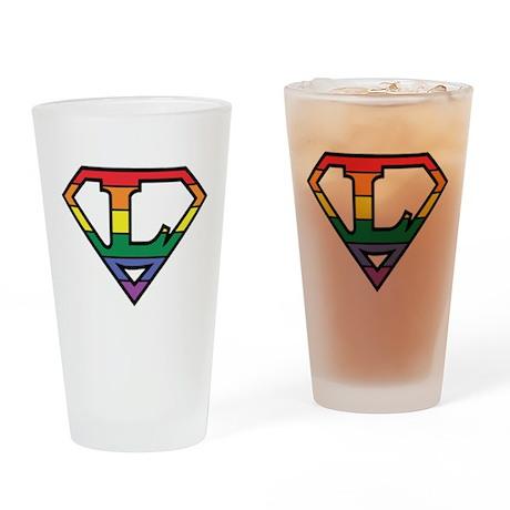 Super Lesbian! Drinking Glass
