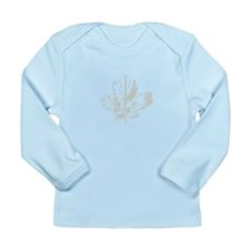 Typograhic Oak Leaf Long Sleeve Infant T-Shirt