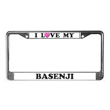 I Love My Basenji License Plate Frame