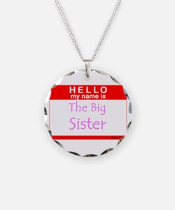 The Big Sister Name Tag Necklace