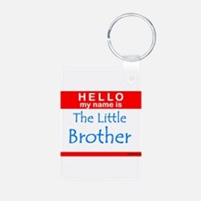 Little Brother Name Tag Keychains