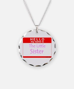Little Sister Name Tag Necklace