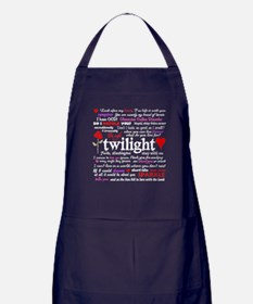 Twilight Quotes Apron (dark)