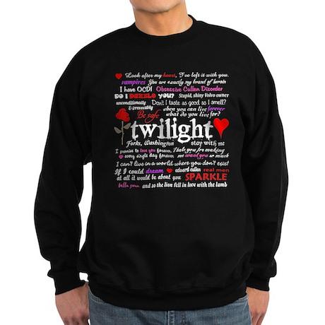 Twilight Quotes Sweatshirt (dark)