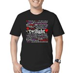 Twilight Quotes Men's Fitted T-Shirt (dark)