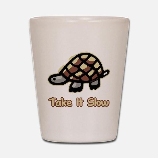 Take It Slow Turtle Shot Glass
