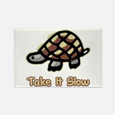 Take It Slow Turtle Rectangle Magnet