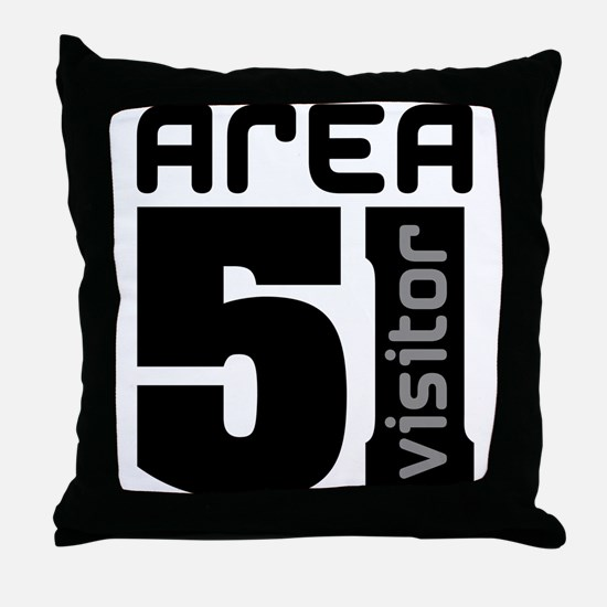 Area 51 Alien Visitor Throw Pillow