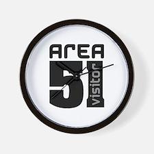 Area 51 Alien Visitor Wall Clock