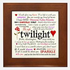 Twilight Quotes Framed Tile