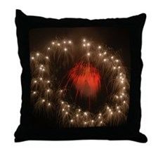Silver Ring Fireworks Throw Pillow