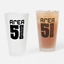 Area 51 Alien Visitor Drinking Glass
