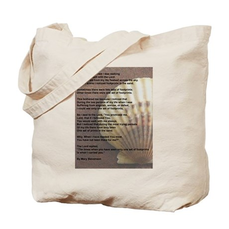 """""""Footprints in the Sand"""" Tote Bag"""