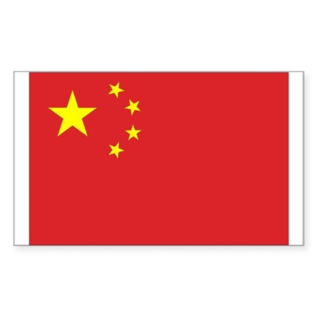 Chinese Flag Rectangle Sticker