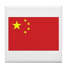 Chinese Flag Tile Coaster