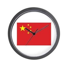 Chinese Flag Wall Clock