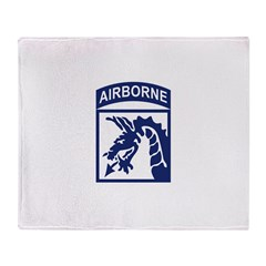 18th Airborne Corps Throw Blanket
