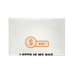 Lotto Bag Rectangle Magnet (10 pack)