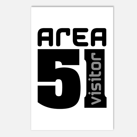 Area 51 Alien Visitor Postcards (Package of 8)