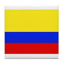 Colombian Flag Tile Coaster