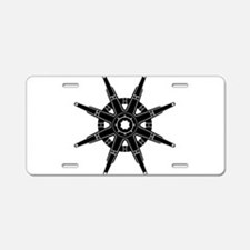The Dharma Wheel Aluminum License Plate