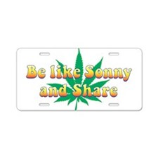 Cute Sonny Aluminum License Plate