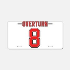 Overturn 8 Aluminum License Plate