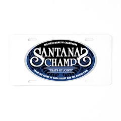 Santana's Champ' Aluminum License Plate