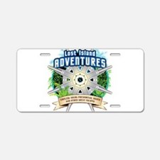 Lost Island Adventures Aluminum License Plate