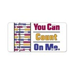 Count on Me Aluminum License Plate