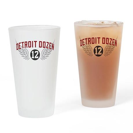The Detroit Dozen Drinking Glass