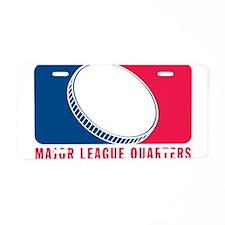 Major League Quarters Aluminum License Plate