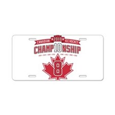 2010 Championship Aluminum License Plate