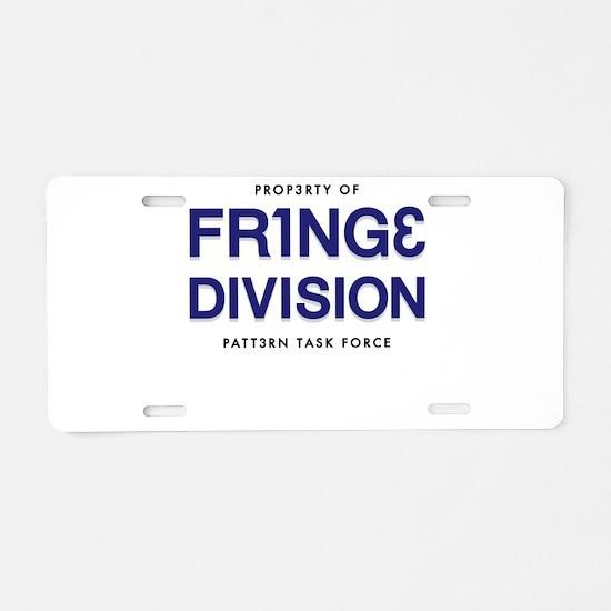 FRING3 DIVI5ION Aluminum License Plate