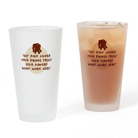 Troll Under the Bridge Drinking Glass