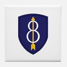 8th Infantry Division Tile Coaster