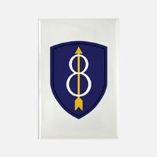 8th Infantry Division Rectangle Magnet