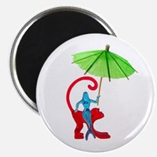 Cocktail Mermaid Monkey Magnet