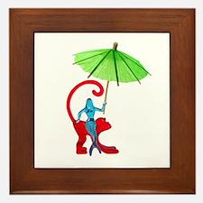 Cocktail Mermaid Monkey Framed Tile
