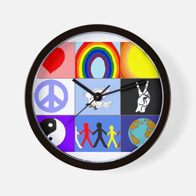 peaceloveunity Wall Clock
