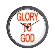 Glory to God Wall Clock